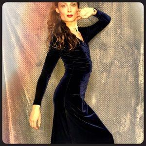 Vintage Cache Blue Velvet Dress